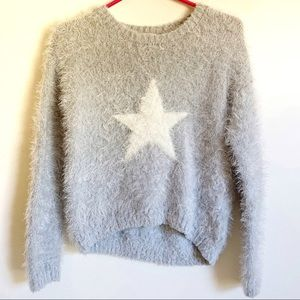 Colortree Eyelash with Star Detail Sweater